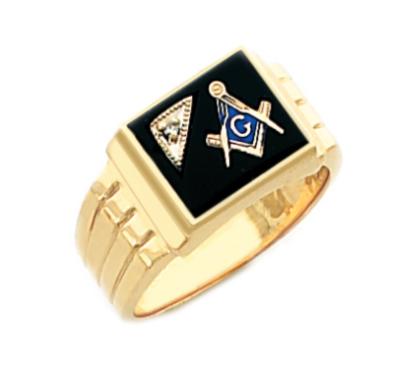Mens Sterling Silver or Gold Plated Masonic Freemason Mason Ring