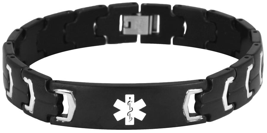 Buy Men's Stainless Steel Medical Alert Engraved ID Bracelet at