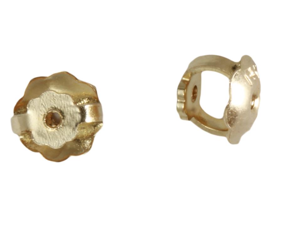 new 5mm genuine 14k gold on butterfly earring