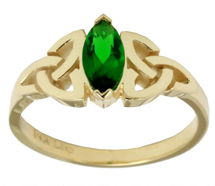 new 10k or 14k gold celtic knot ring