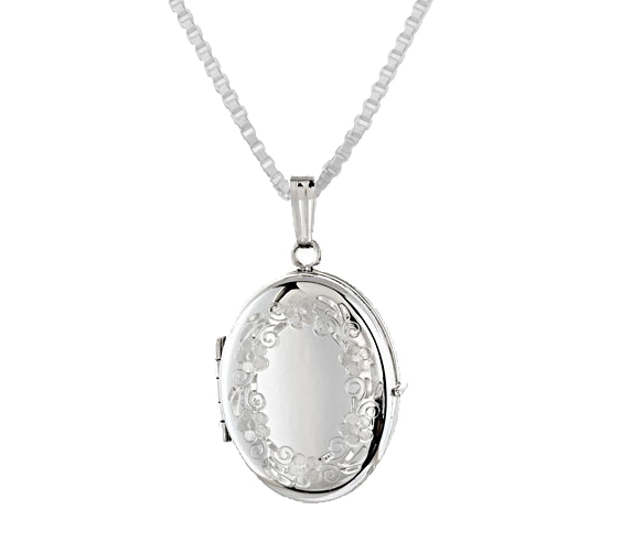 engravable 0 925 sterling silver oval 4 photo locket
