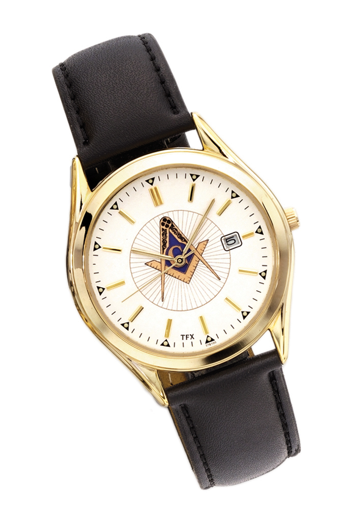 Mens Caravelle Freemason Masonic Past Master Watch